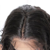 Virgin 아프리카계 미국인 100% 사람의 모발 Glueless 아기 머리를 가진 가득 차있는 레이스 가발을%s 브라질 가벼운 Yaki 똑바른 레이스 정면 가발