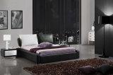 Base suave del dormitorio de los muebles de la base moderna genuina blanca del cuero (HC179B)