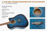 Aiersi guitare acoustique piquée 41 par pouces Sg028ca de couleur de dessus de peau
