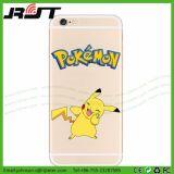 Tampa móvel do telefone móvel de Pokemon TPU dos acessórios para o iPhone 7
