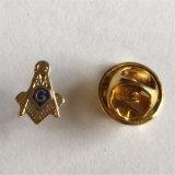 典型的な品質の金の金属フリーメーソンのPin