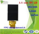 """3.5 """" étalage de TFT LCD de 320*480 MCU 8bit, IC : Ili9488, FPC 28pin pour la position, sonnette, médicale, véhicules"""