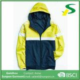노란 젊은이 격의없는 스타일 스포츠용 잠바 재킷