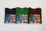 T-shirt de chemise de logo fait sur commande d'impression de marque d'OEM long