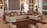 Wohnzimmer-Gewebebrown-Farben-hölzernes Sofa stellt ein (HX-SL020)