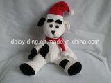 De midden Leuke Hond van Kerstmis van de Grootte met Hoed