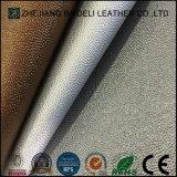 Кожа PU PVC металлической поверхности синтетическая для драпирования мебели и украшения дома мягкого