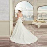 Прелестно шнурок Tulle lhbim Appliques безрукавный платье венчания 2017