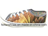 人のズック靴の歩きやすい注入の偶然の靴(FFDL0118-01)