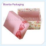 Rectángulo de regalo de empaquetado de papel de la cartulina de encargo
