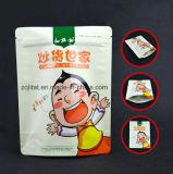 Customzied di alluminio si leva in piedi in su il sacchetto di plastica dell'alimento per il pacchetto dell'alimento con la chiusura lampo