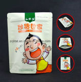 Sachet en plastique droit stratifié par poche comique en aluminium de Customzied pour le module de nourriture avec la tirette