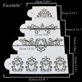 Восковка для стены украшая торт восковки Fondant венчания украшая прессформу инструмента