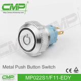 Commutateur de bouton poussoir momentané du CMP 22mm avec la lampe lumineuse par boucle