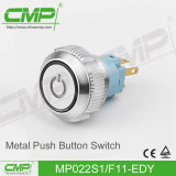 Interruptor de tecla momentâneo do CMP 22mm com a lâmpada iluminada anel