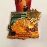La Cina ha personalizzato la medaglia mezza d'argento di maratona