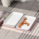 Plato Porcelana China Mobile restaurante rectangular Super White