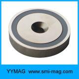 China-Geldstrafen-maschinell bearbeitenneodym-Potenziometer-Magnet mit durchgehendem Loch