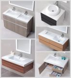 浴室の虚栄心の流しの石の樹脂のキャビネットの洗面器