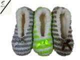 4つのカラーしまのある粒子ヤーンの屋内靴(RY-SL1610)