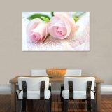 Het roze Inkjet Afgedrukte Olieverfschilderij voor de Decoratie van het Huis