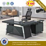 키보드 (NS-GD019)를 가진 최신 인기 상품 사무용 가구 금속과 유리 사무실 책상