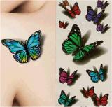 Etiquetas engomadas temporales impermeables del tatuaje de la mariposa de moda 3D