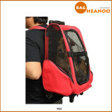Large Airline Rolling Wheeled Pet Dog Cat Travel Carrier Backpack