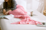 100%年の綿は人魚毛布のかぎ針編みの人魚のテール毛布を編んだ