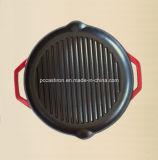 ステーキのための円形の鋳鉄のグリドル