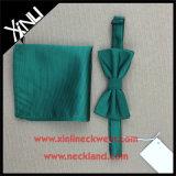 Совершенным натянутый лук узла 100% Handmade и квадрат карманн сплетенные шелком
