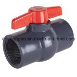 Шариковый клапан PVC NPT/BSPT/JIS/BS/ANSI/DIN пластичный компактный