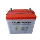 Bateria ácida popular do modelo 12n24-4 12V 24ah para o mercado francês
