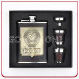 Conjunto de lujo del regalo de los accesorios del vino con el paquete del rectángulo negro