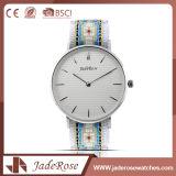 Relógio de pulso da forma de quartzo do aço inoxidável do seletor das senhoras grande