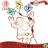 Siluetta 114cm indicatore luminoso multicolore di Christams dell'indicatore luminoso della corda dei presente e del Babbo Natale del LED