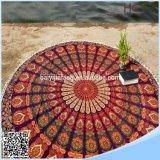 100%年の綿の円形のビーチタオルの高品質の円形タオル