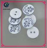 Tasten der Hemd-Klage-Mantelknopf-runde Faltenbildung-4holes