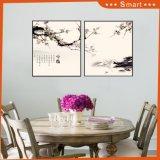 Pinturas hechas a mano de la decoración de la pared de la pintura al óleo del estilo chino