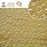 Cordón de Polyster del derretimiento de la suposición del recorte del poliester de la tela del cordón del bordado de la alta calidad 2017 para la ropa y las materias textiles caseras Ln10043