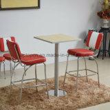 2人のための快適な装飾されたダイニングテーブルそして革張りのいす(SP-CT847)