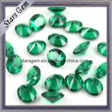 Gemstone resistente ao calor Spinel/Nano sintético forma verde/redonda