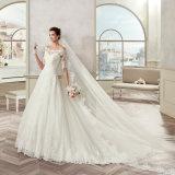 Шнурок Tulle высокого качества Appliques половинное платье венчания 2017 втулки
