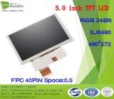 """écran de TFT LCD de 5.0 """" 480X272 RVB, Ili6480, 40pin pour la position, sonnette, médicale"""