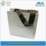Le 1 papier d'art latéral enduit estampé Papier d'emballage réutilisent le modèle de sac de papier avec le traitement