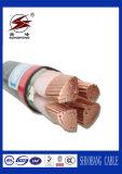 Сердечники низкого напряжения тока 3+1 омедняют силовой кабель проводника изолированный XLPE