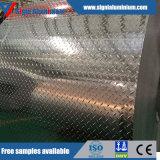 Lamiera Checkered/lamierino dell'impronta di alluminio luminosa di rivestimento 6061t6