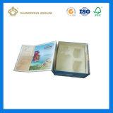 Caja de embalaje del regalo rígido de la cartulina de Handmaded de la marca de fábrica (con la impresión ULTRAVIOLETA de la tarjeta de la plata del oro)