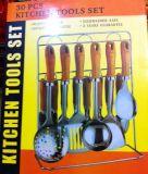 Кухня нержавеющей стали варя комплекты инструментов с держателем Ckt30-B05