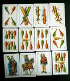 Испания подгоняла карточки бумаги играя для промотирования/Naipes